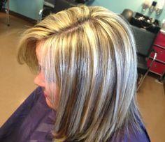 Blending Gray Hair With Highlights Grey Highlights
