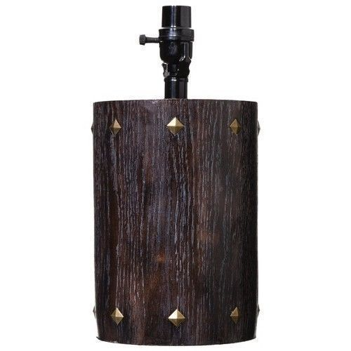Nate Berkus Target 2 Table Lamps Brown Round Brass Stud