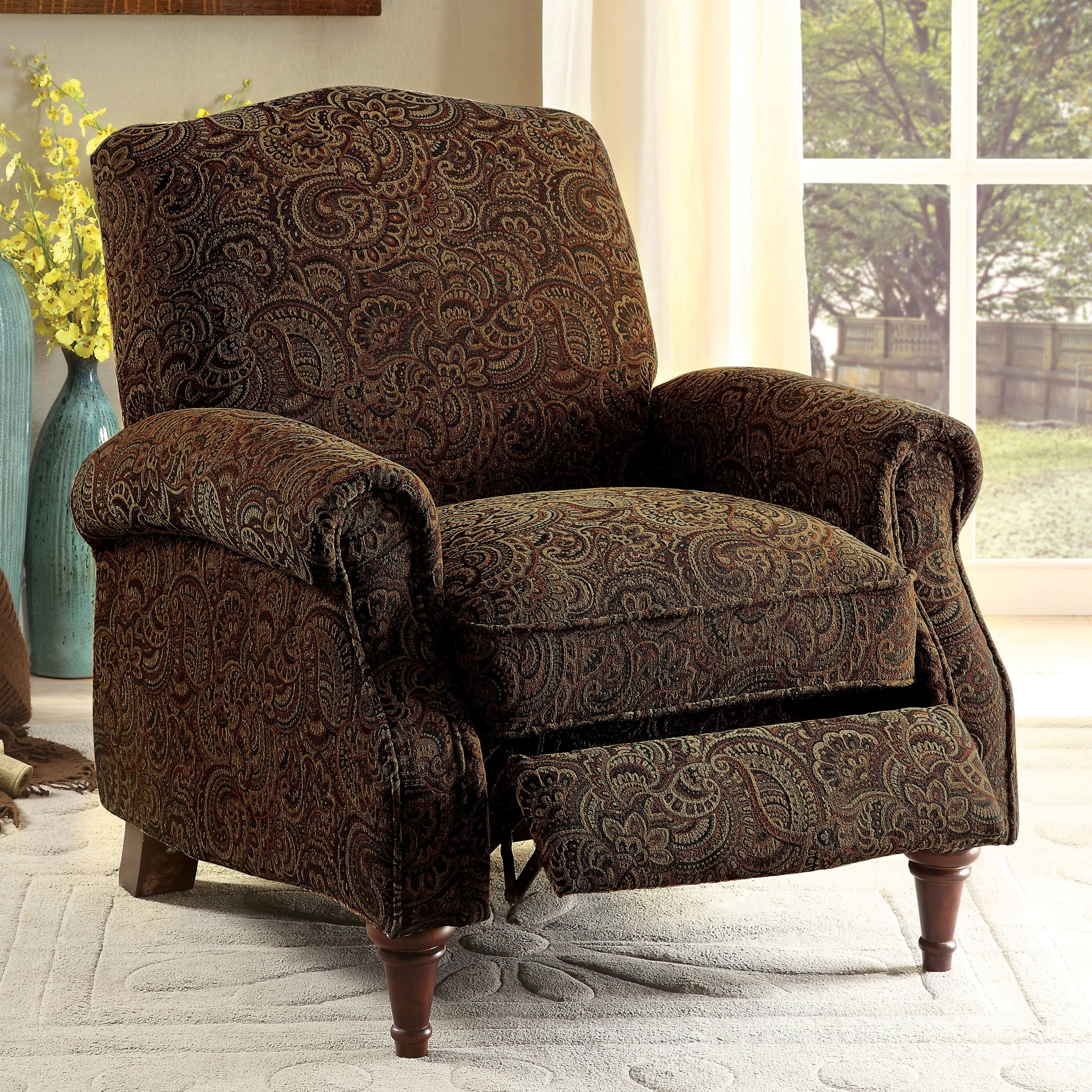 Furniture Of America Vargo Paisley Brown Push Back
