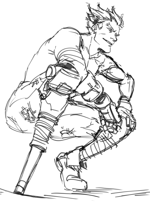 I like junkrat somehow for Overwatch coloring pages
