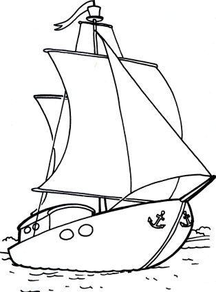 Pin De Betsy Oroszi En Vehiculos Barcos Para Colorear Dibujo De Barco Dibujos Para Colorear