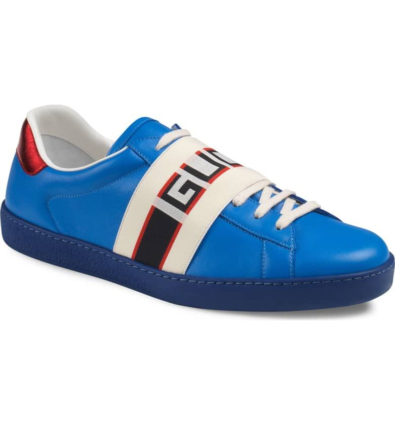 f9ffcde0598 New Ace Stripe Leather Sneaker-GUCCI Price 650.00 Nordstrom