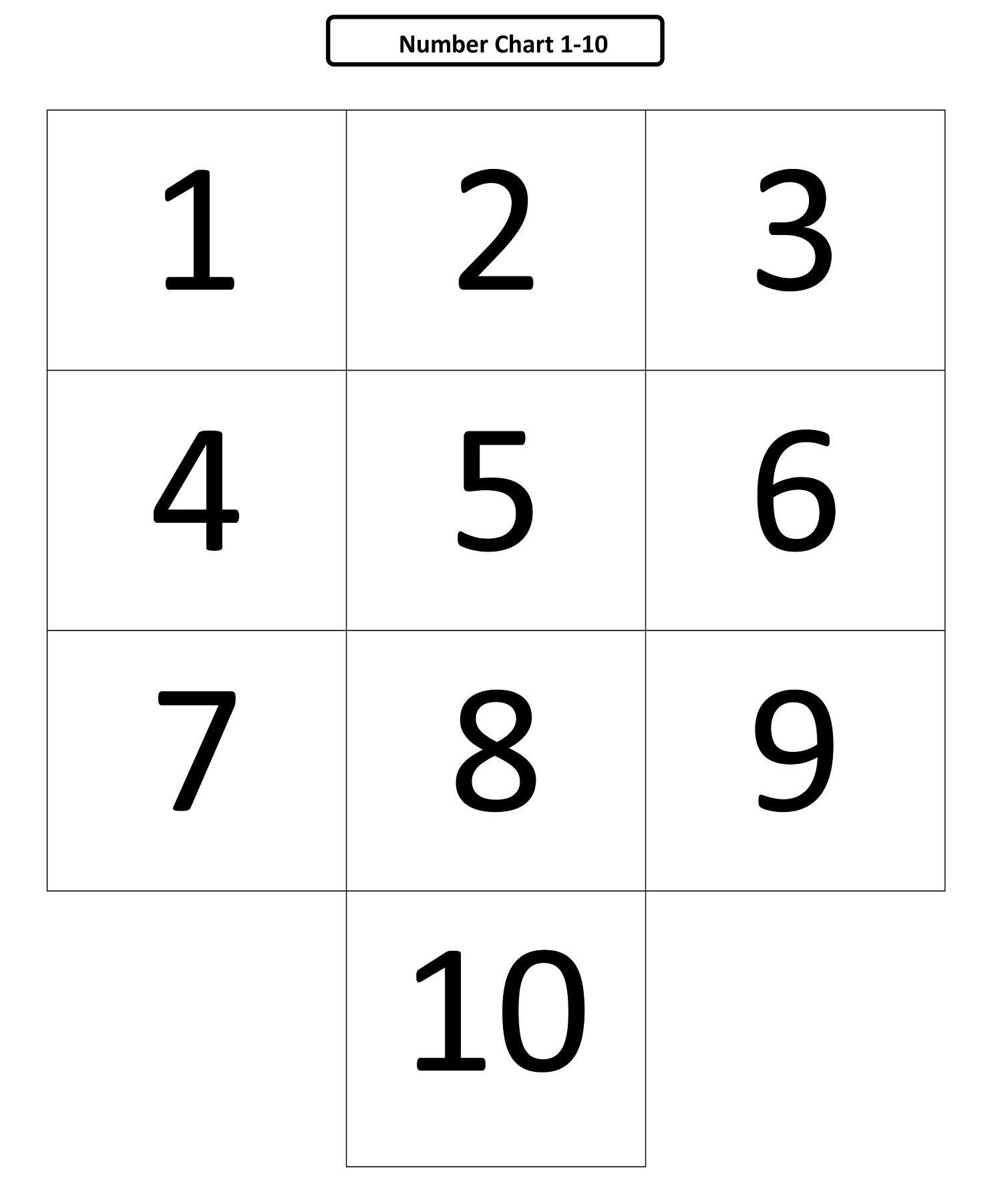 Preschool Numbers 1 10 Printable