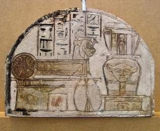Figured ostrakon of the goddess Meretseger Kunsthistorisches Museum Vienna