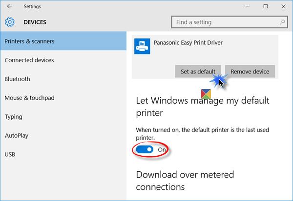 Default Printer keeps changing in Windows 10 Printer