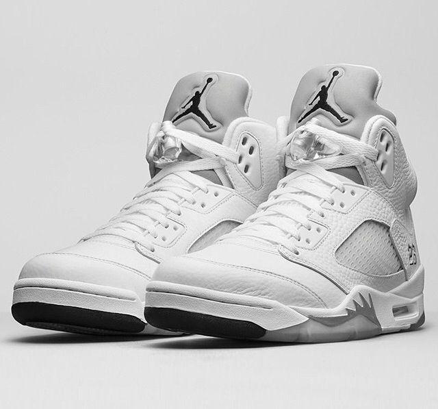 Air Jordan 5 white/metallic   Sneakers