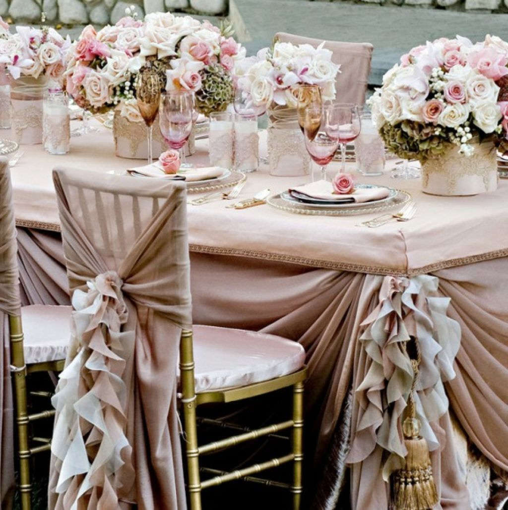 wedding table linen ideas