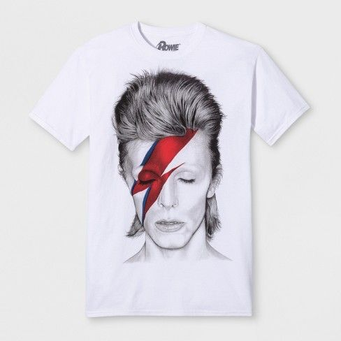 332d8c29cfa80 Men s Short Sleeve David Bowie Crew T-Shirt - White   Target