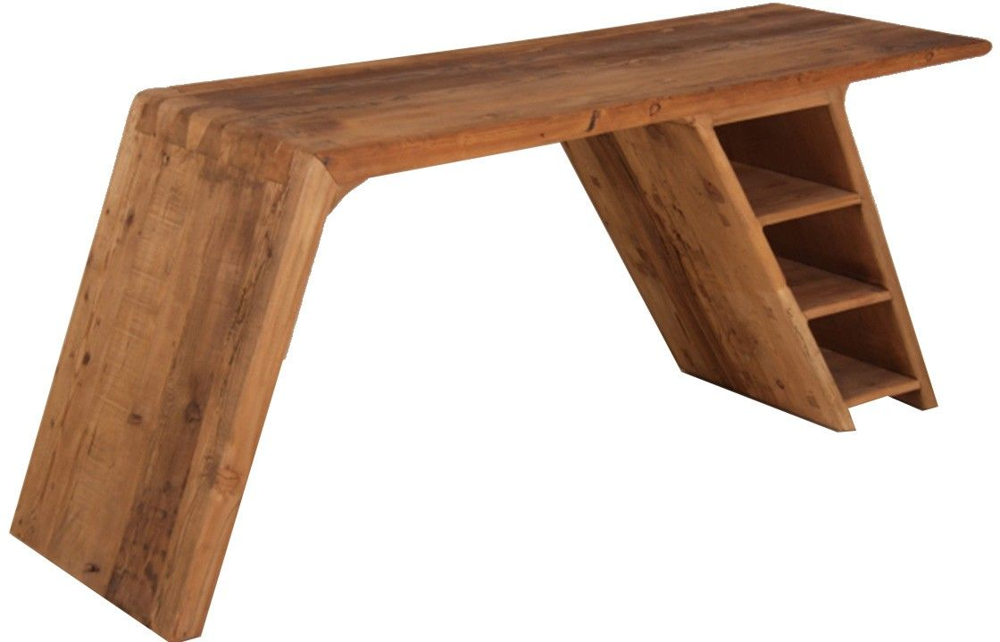 Schreibtisch holz dunkel  Flyingstep