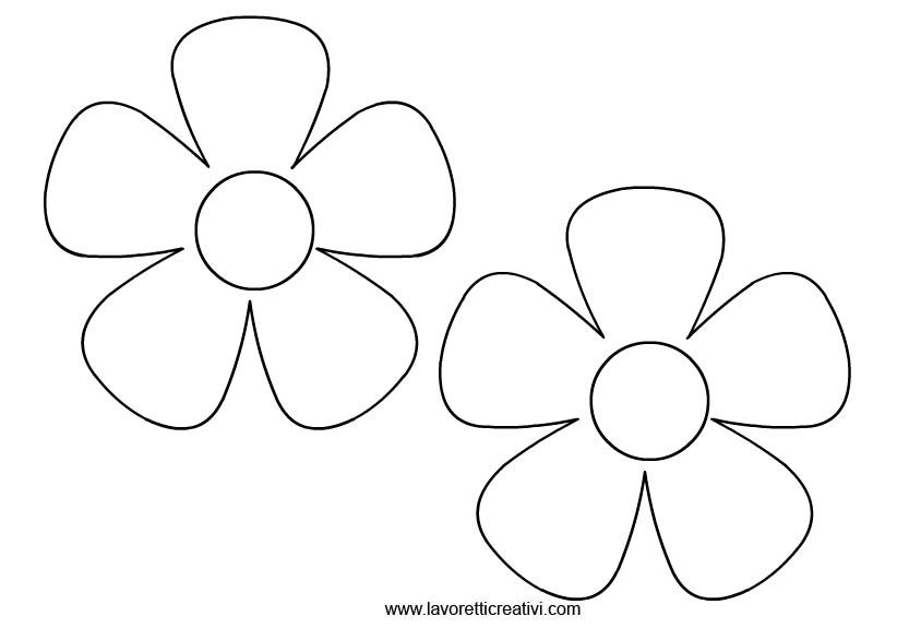 Sagome Fiori 2 Skd Flower Coloring Pages Paper Flowers E Flower