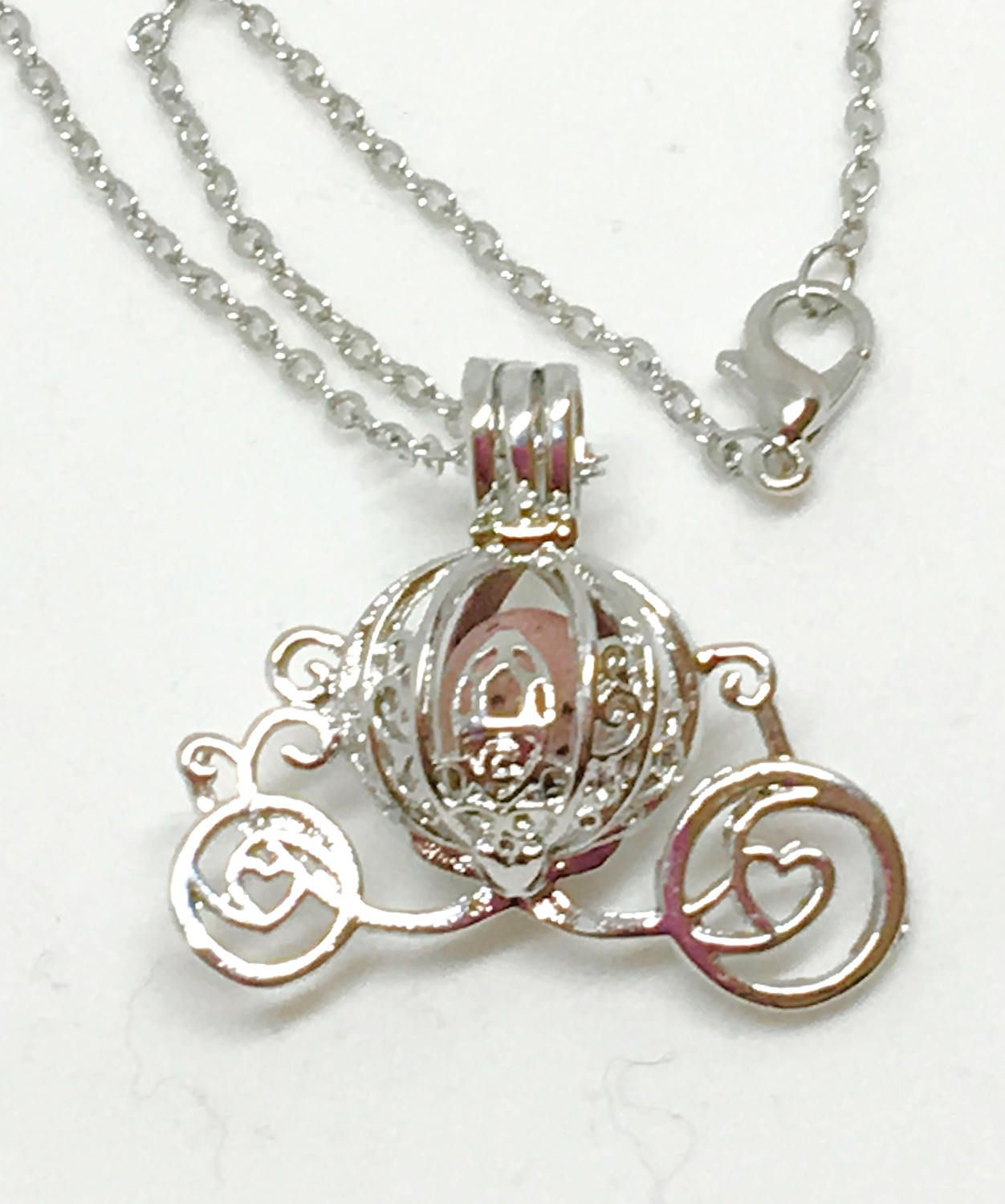 Princess Carriage Essential Oil Diffuser Necklace Children\u0027s with ...