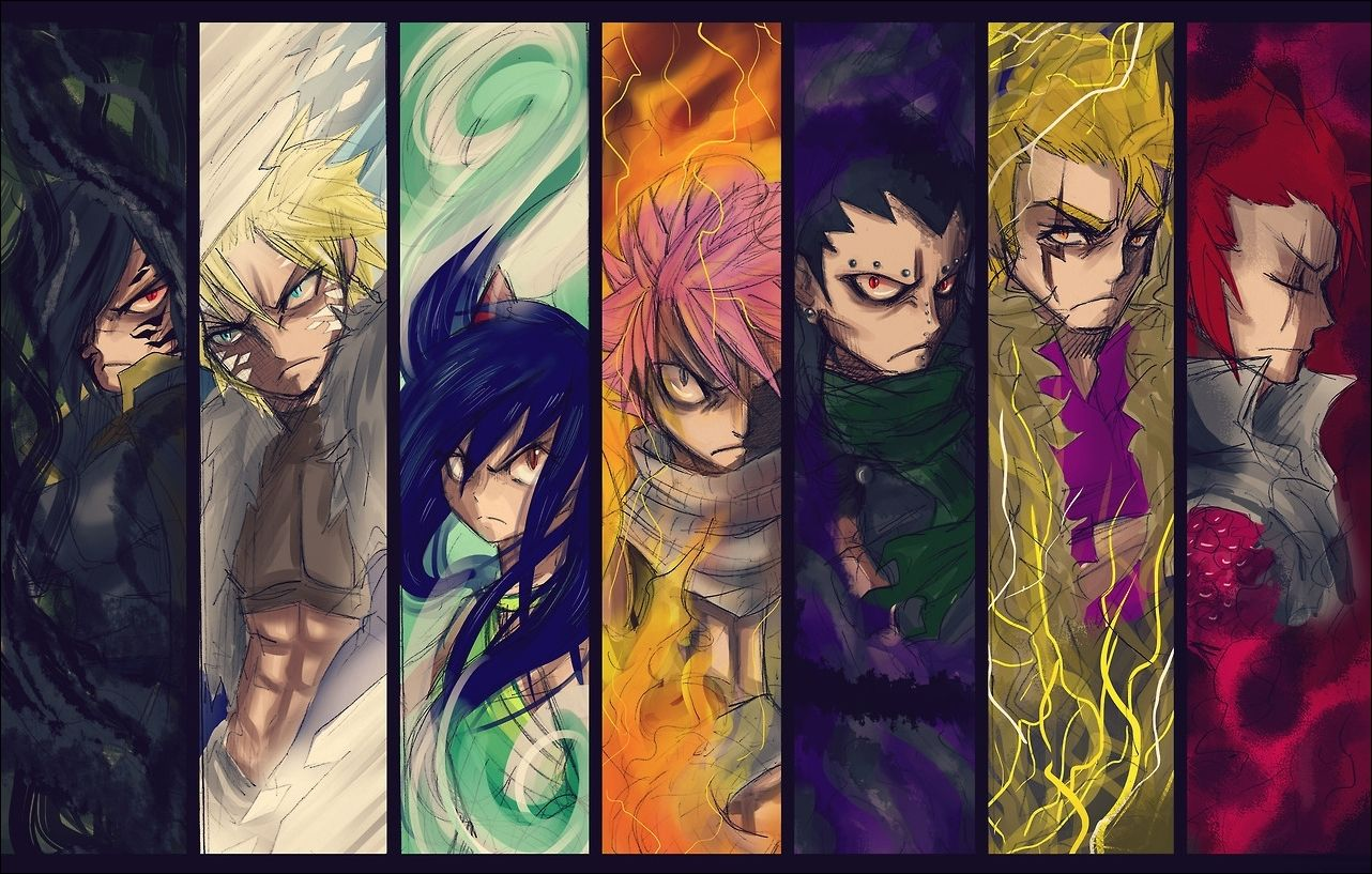 Fairy Tail - Rogue, Sting, Natsu, Gajeel, Laxus, Cobra and