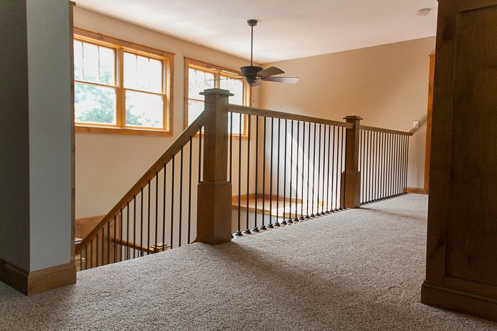 Best Wrought Iron Spindles And Alder Railing In A Custom Two 640 x 480