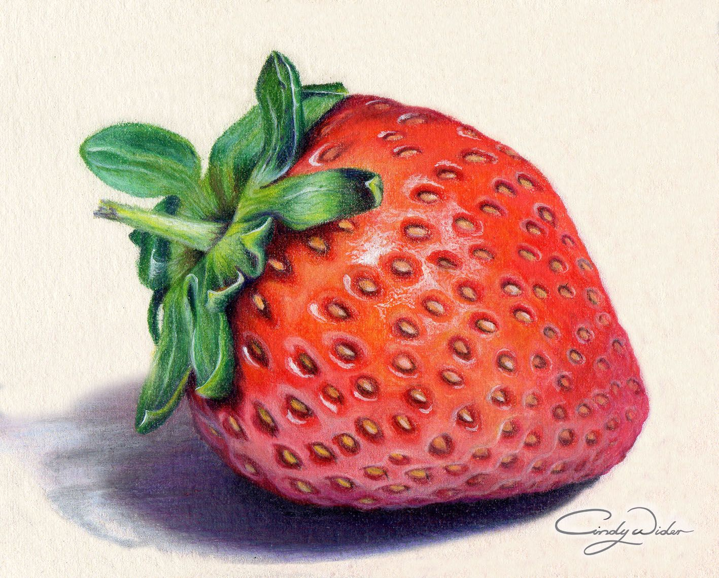 How to draw with colored pencils - This Strawberry Was Created With Prismacolour Pencils On Waterford Saunders Cold Press 300lb Paper Yummo