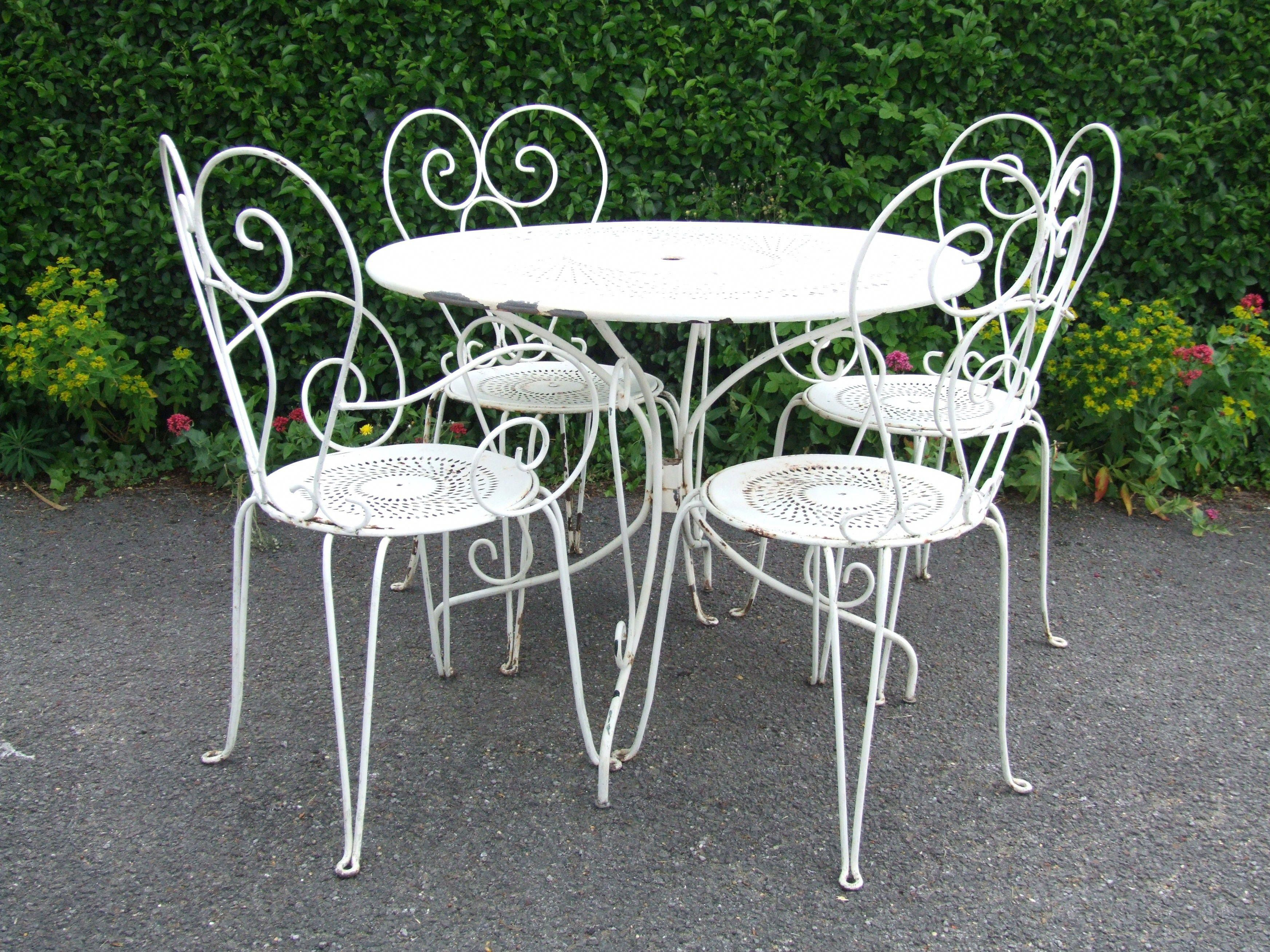 French Bistro Kitchen Table And Chairs Vintage French Wrought