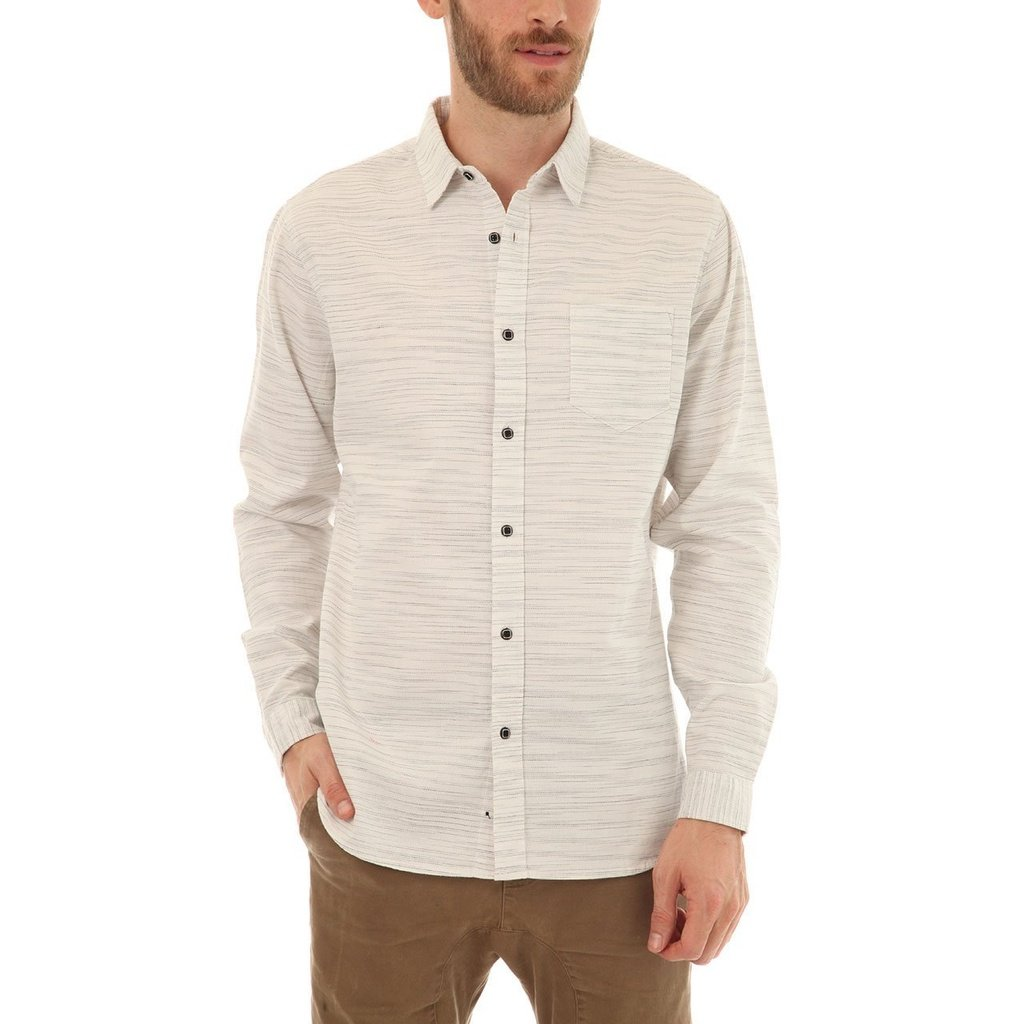 f507efbf081c43 Long sleeve yarn dye slub dobby shirt with one patch pocket. - 100% Cotton.  - Regular Fit. Tailored in the right places, but not too slim - Fits True  to ...