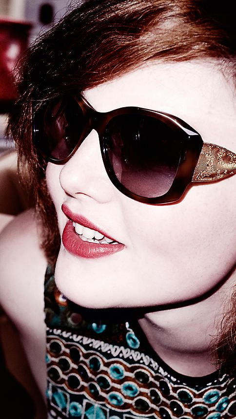 0c8153511c Tortoise shell Gabardine Lace Collection Square Frame Sunglasses -  http   www.visiondirect