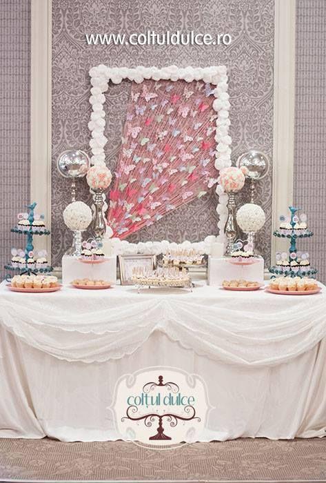 Butterfly Theme Candy Bar Sweet Corner Coltul Dulce Www Coltuldulce Ro Sweet Corner Dulce Candy Bar