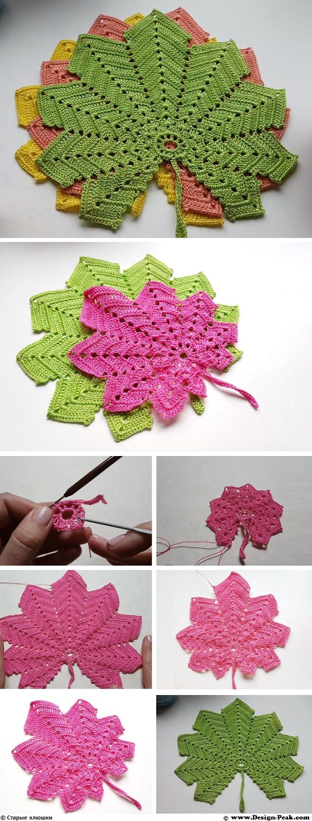 Crochet Maple Leaf | Leaves, Crochet and Craft