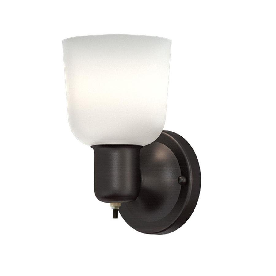 Portfolio 4 52 In W 1 Light Oil Rubbed Bronze Wall Sconce At Lowes