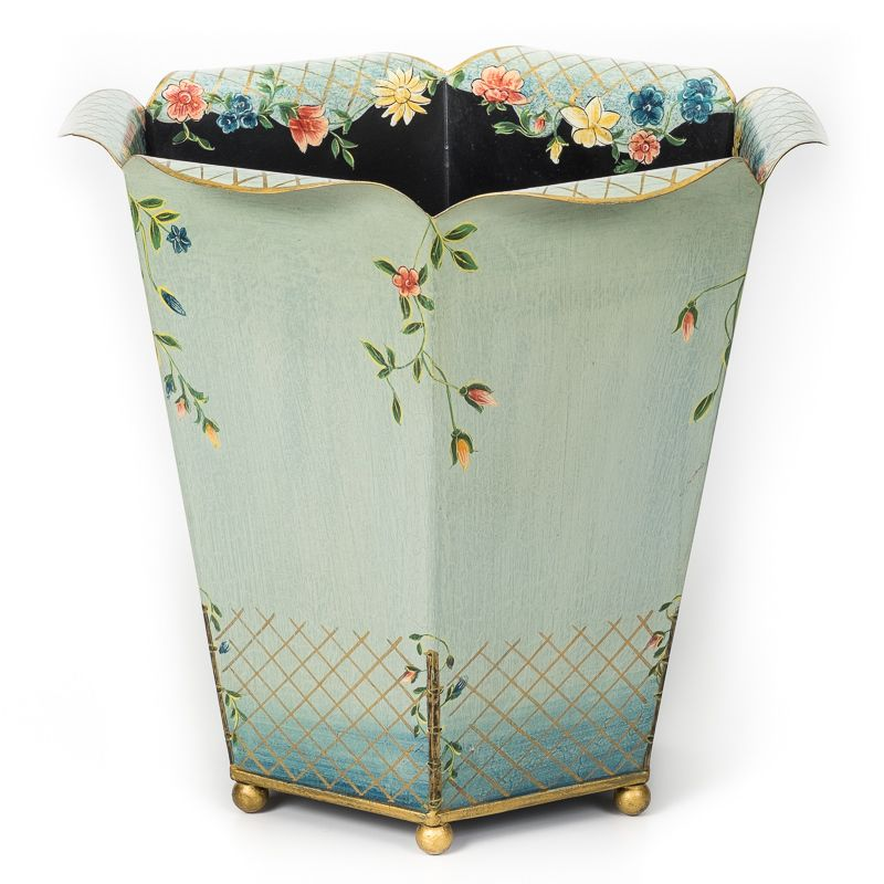 The Fleur Waste Paper Bin Basket Is A Stunning Decorative Home Accessory That Adds Touch Of Style To Any Office Or Bedroom