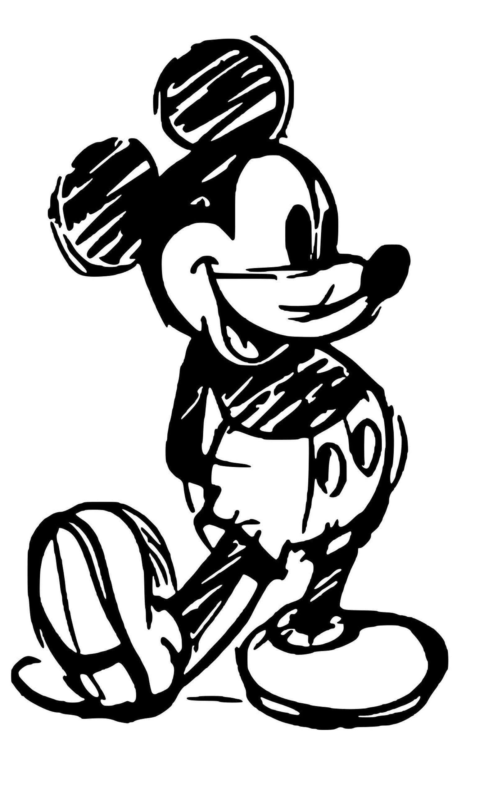 Disney Mickey Sketch SVG Disney silhouettes, Disney