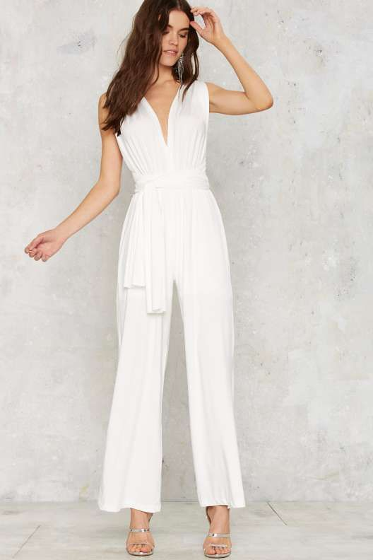 18f49a57f4e All Time Low Halter Jumpsuit - White - Rompers + Jumpsuits ...