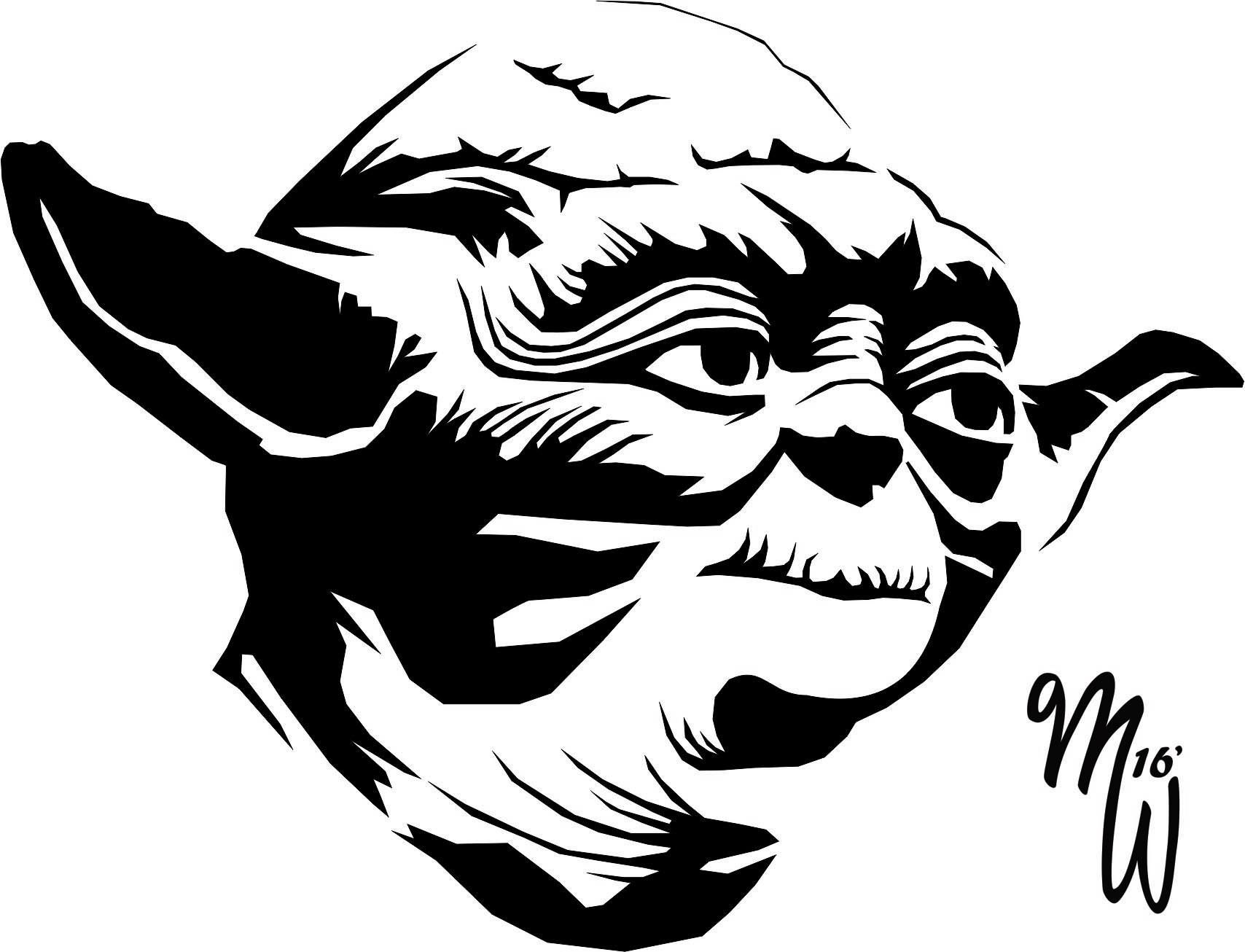 Yoda Vector WIP by MillieWright on DeviantArt em 2020