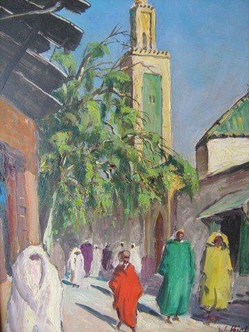Epingle Par Helene Baudvallet Sur Maroc Peinture Orientaliste