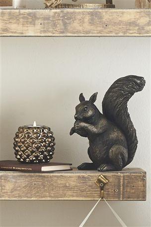 Resin Squirrel Ornament