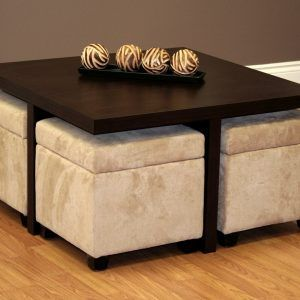 Exceptionnel Square Coffee Table With Ottomans Underneath