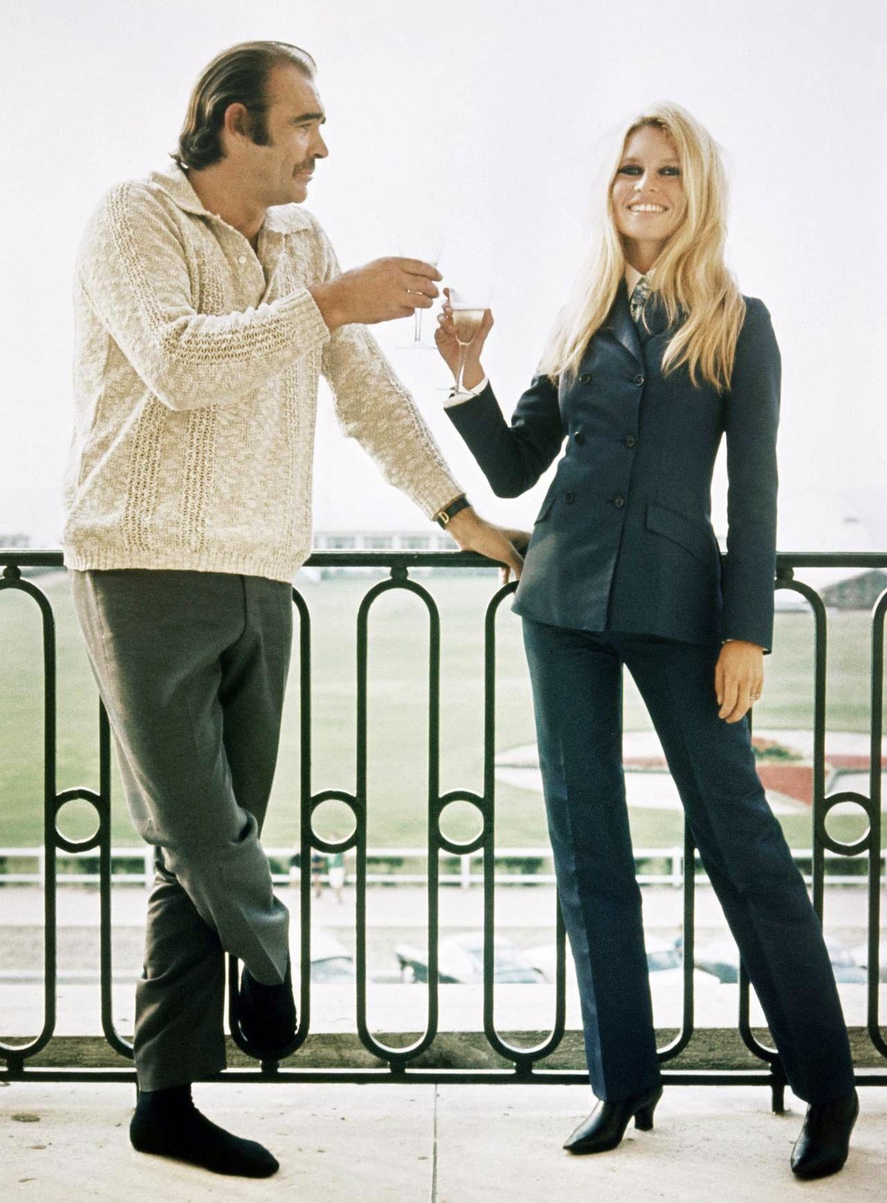 Sean Connery and Brigitte Bardot.