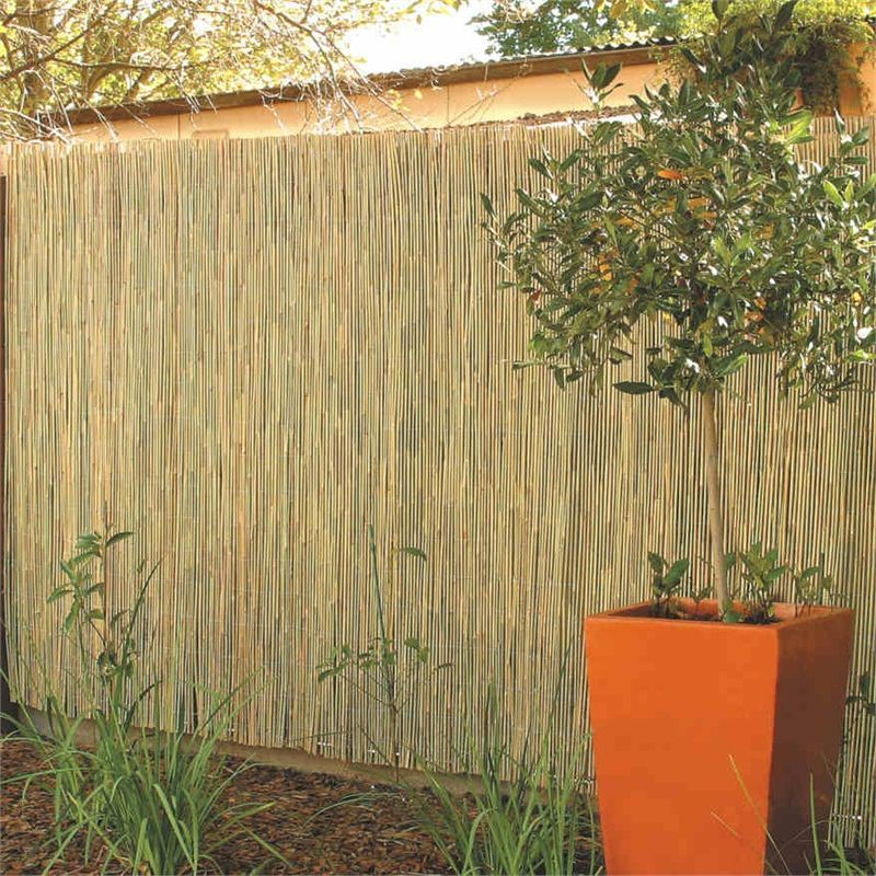Diy Backyard Project Bamboo Fencing Wood Fence Design Fence