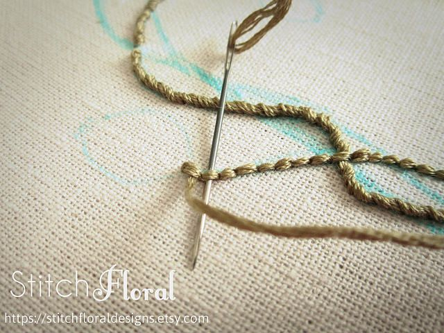 Process Of Stitching A New Design Embroidery Stitches Tutorial