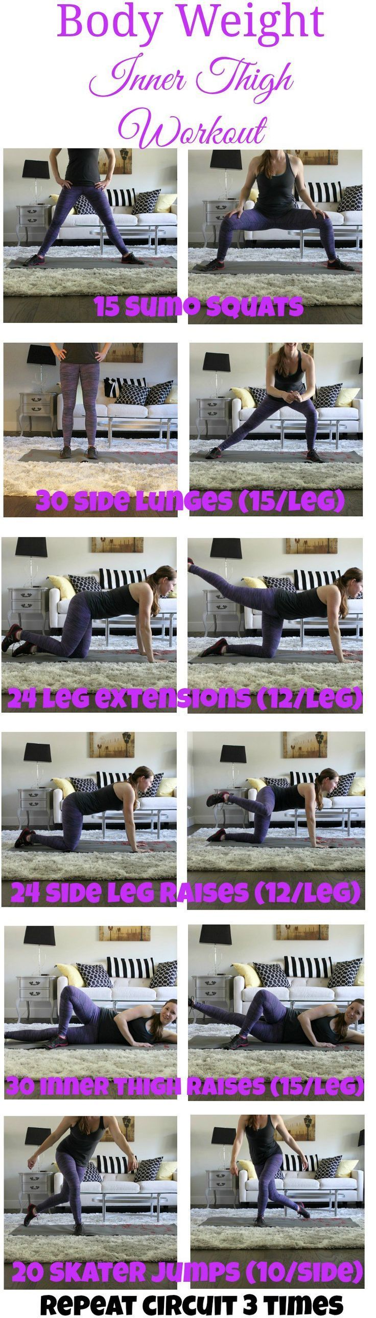 Body Weight Inner Thigh Workout  Workout Bodies and Weight loss