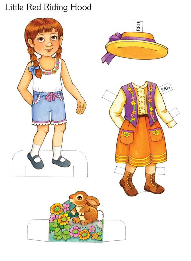 Little Red Riding Hood Paper Doll Sample Pages: My Storybook Paper Dolls @  Dover Publications