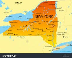 New York State Map With Cities And Towns Map New York State Map Stock Photos Images Amp Pictures   Map new