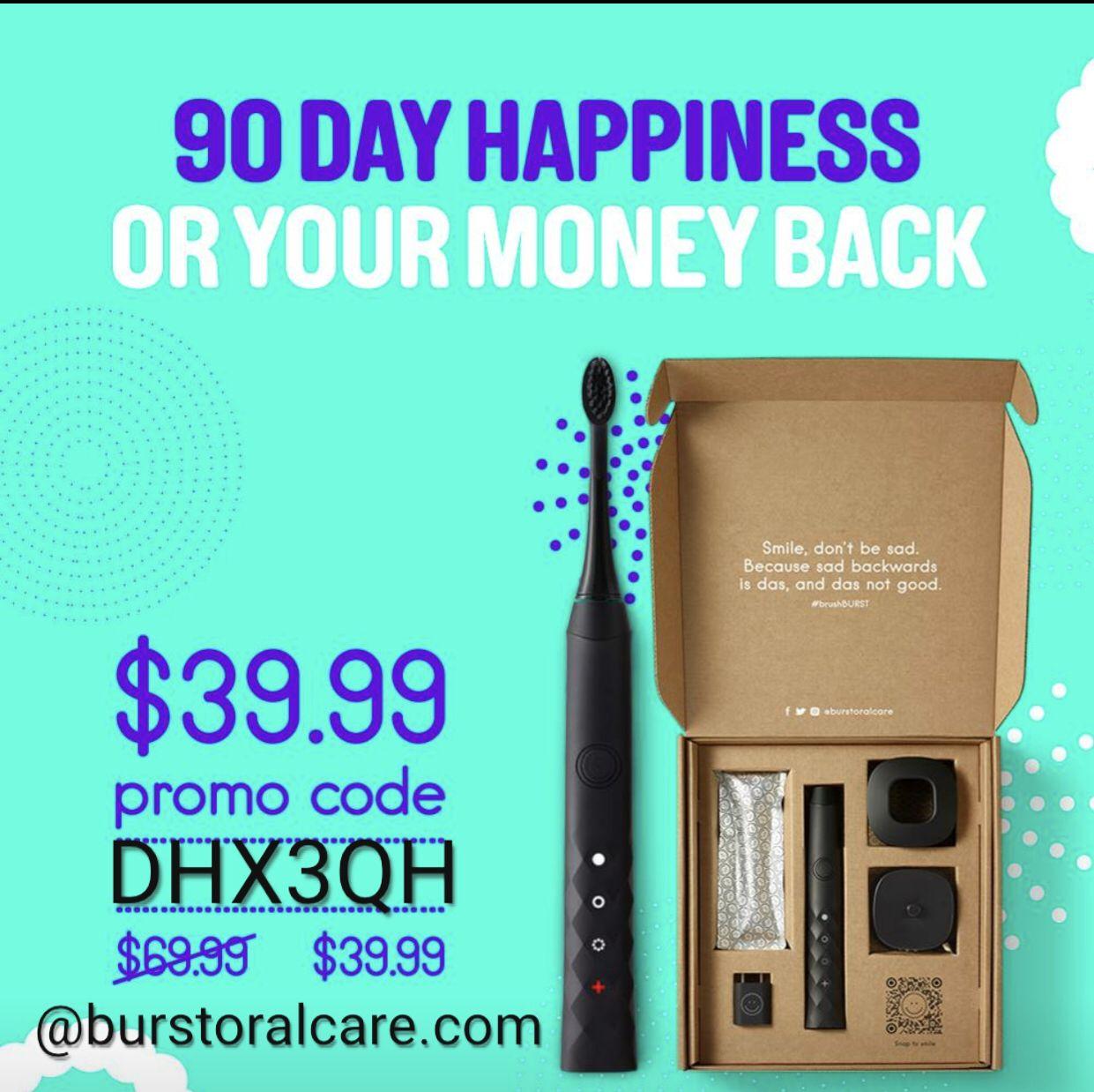 The BURST sonic toothbrush Coding, Teeth care, Dental