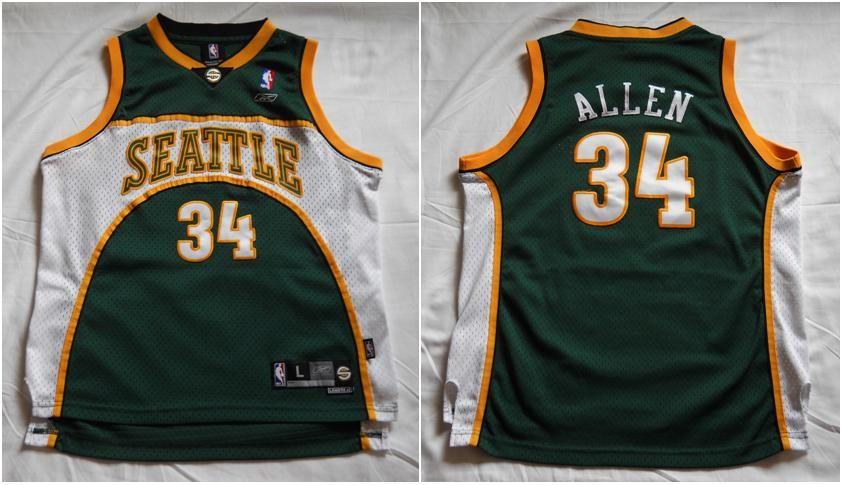 pretty nice 71609 809b1 Seattle Supersonics Jersey (2004-05) Ray Allen #8 by Reebok ...