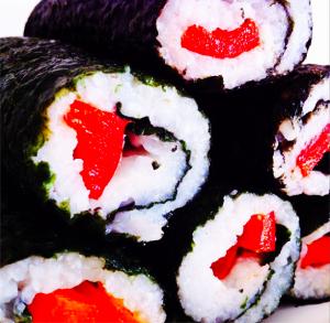Simple Veggie Sushi Recipe.