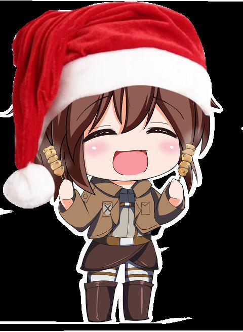 SnK chibi Sasha for christmas Shingeki no Kyojin