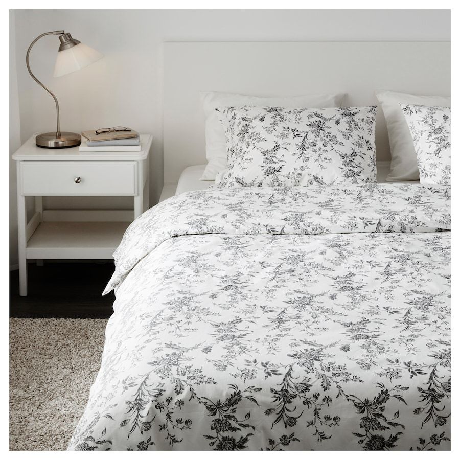 Alvine Kvist Duvet Cover And Pillowcase S White Gray Full Queen Double Queen Housse De Couette Housse De Couette Ikea Belle Literie