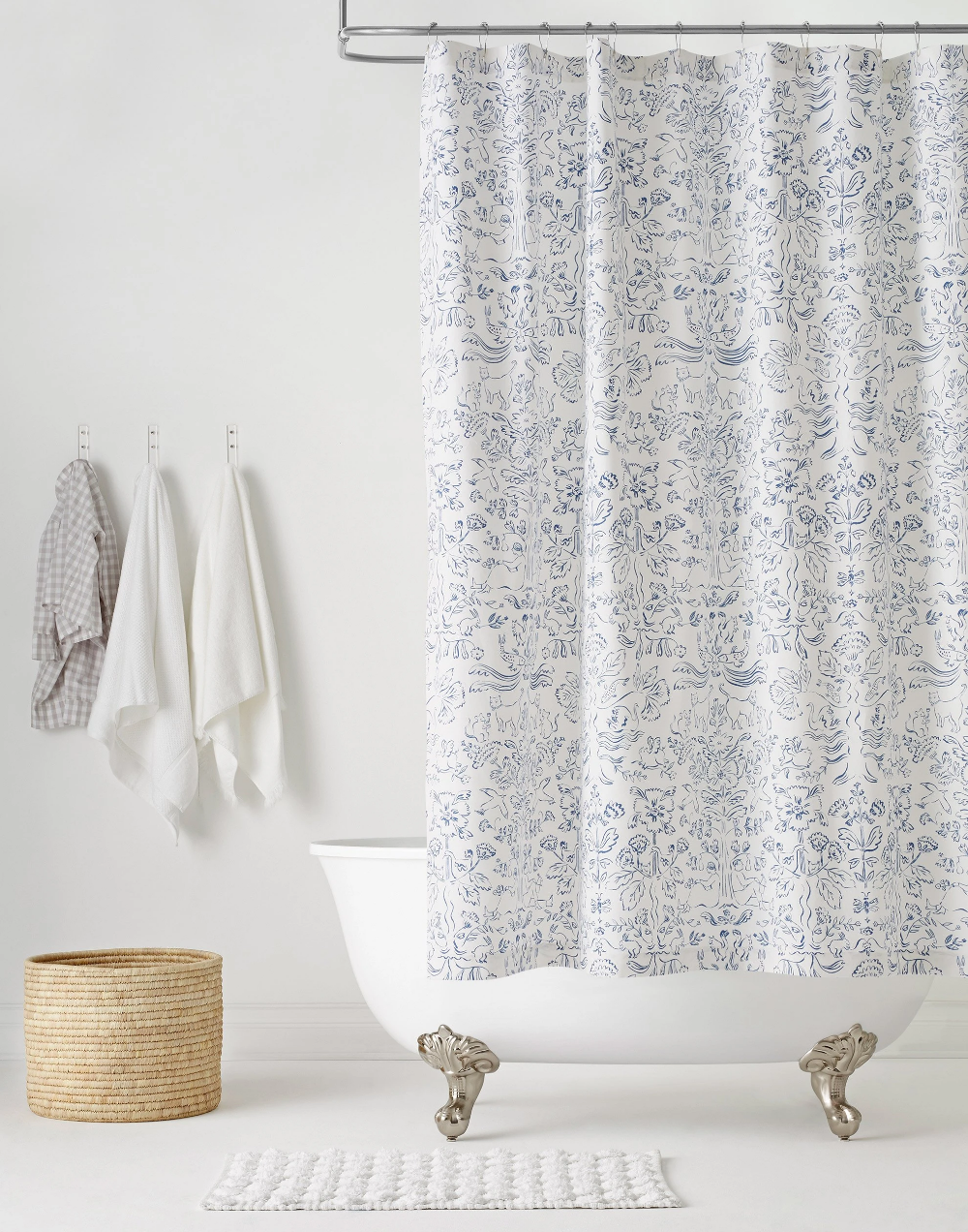 Photo of Storyline (Delft Blue) Shower Curtain
