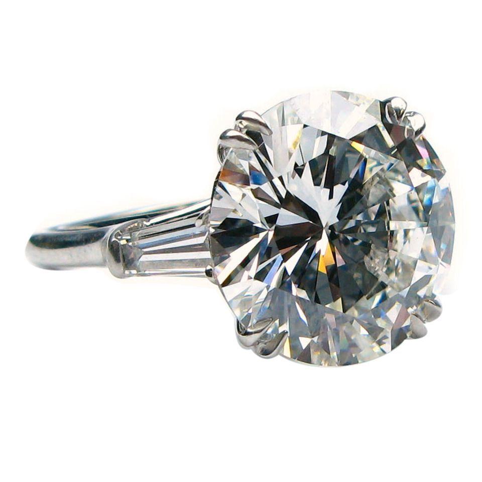 Harry Winston 9 31 Carat Diamond Platinum Ring 1stdibs