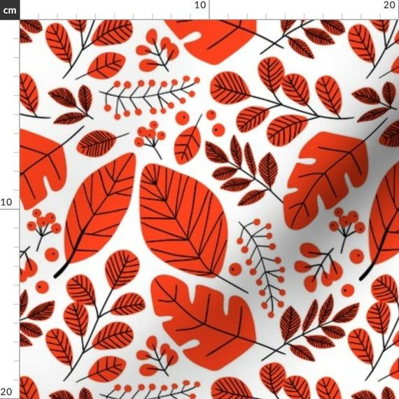 Red Leaves Fabric - Red Leaves-01 By Laura May Designs - Red Fall Pattern Autumn Leaves Falling Cott #autumnleavesfalling