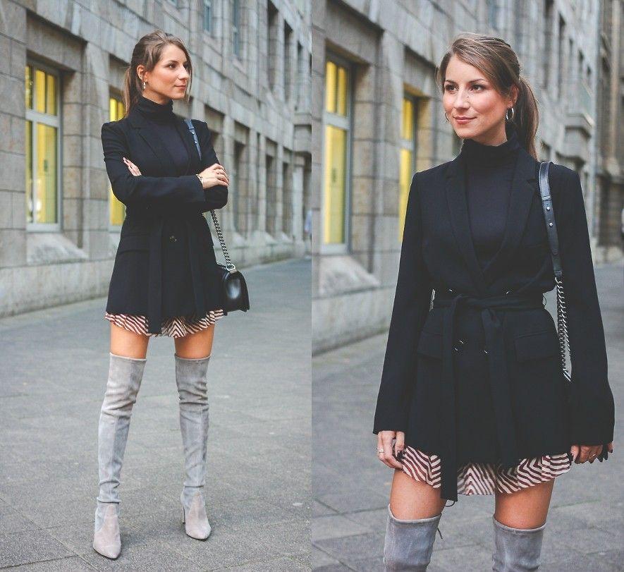 Stephanie Van Klev Zara Dress, Stuart Weitzman Overknee