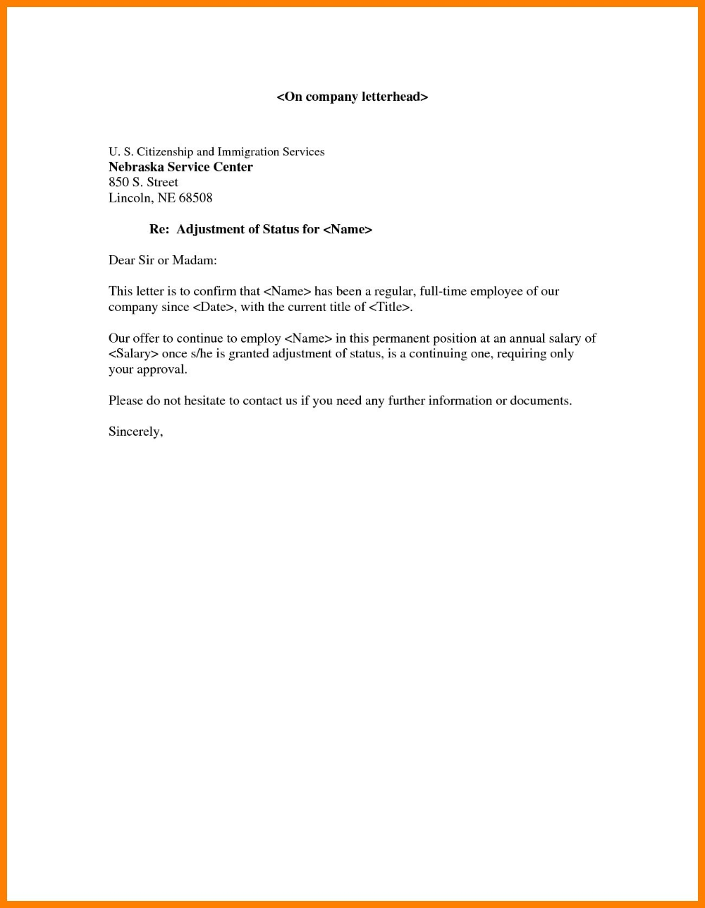 Employment Confirmation Letter Template Doc Gallery Within