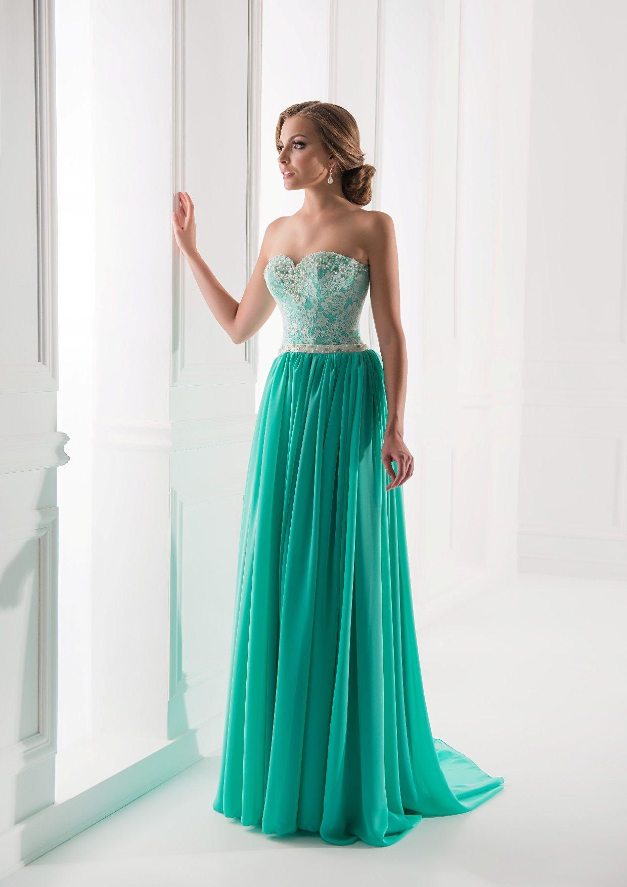 fb01ccc371f Мятное платье в пол