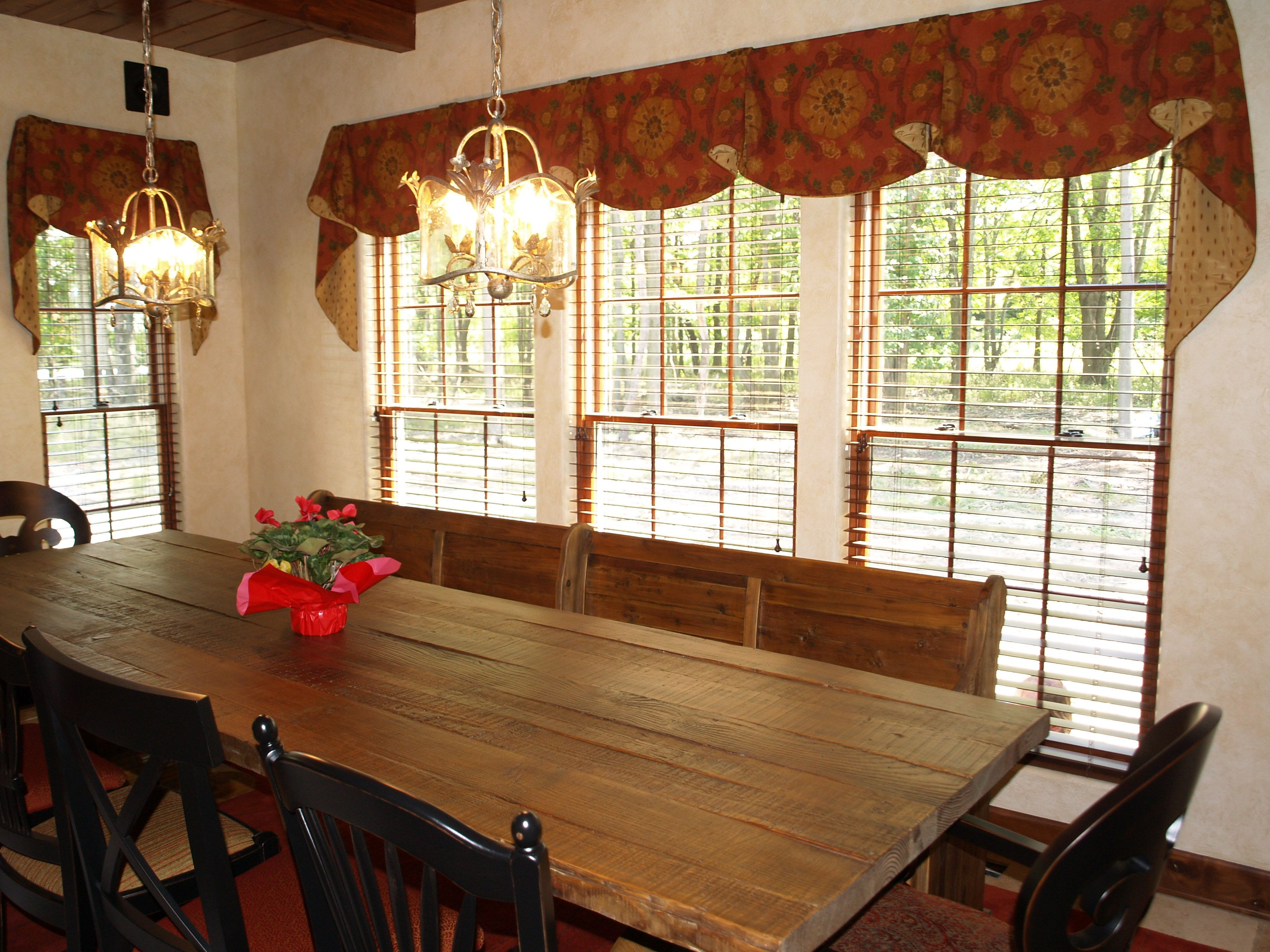 Imperial Valances With Extra Long Cascades In This Kitchen Courtesy Of Well Dressed Windows Solon