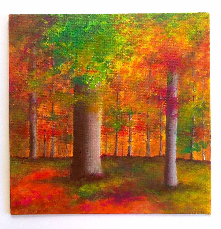 tableau paysage d 39 automne peinture paysage for t en automne peintures par sabrina riggio. Black Bedroom Furniture Sets. Home Design Ideas
